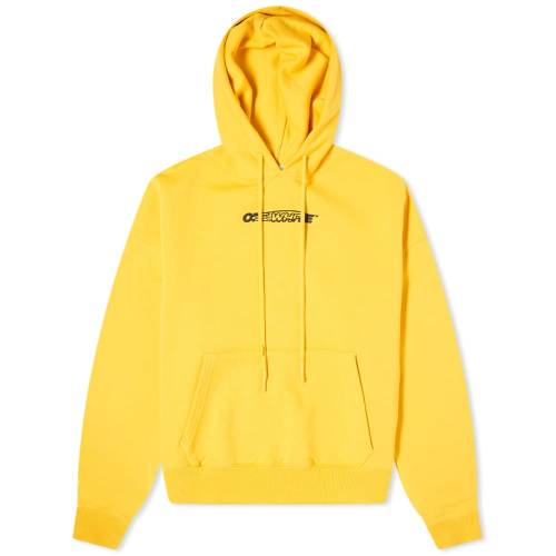OFF-WHITE フーディー パーカー 黄色 イエロー 【 YELLOW OFFWHITE HAND PAINTERS OVERSIZED HOODY 】 メンズファッション トップス