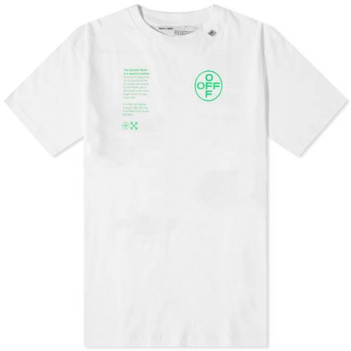 OFF-WHITE Tシャツ 白 ホワイト 【 WHITE OFFWHITE ARCH SHAPES TEE BRILLIANT 】 メンズファッション トップス Tシャツ カットソー