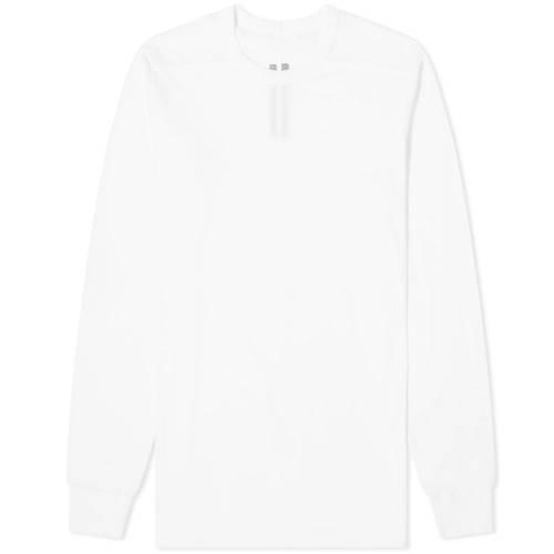 RICK OWENS スリーブ Tシャツ 白 ホワイト 【 SLEEVE WHITE RICK OWENS LONG LEVEL TEE 】 メンズファッション トップス Tシャツ カットソー