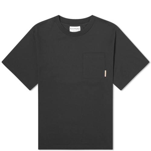 ACNE STUDIOS ピンク Tシャツ 黒 ブラック 【 PINK BLACK ACNE STUDIOS EXTORR POCKET LABEL TEE 】 メンズファッション トップス Tシャツ カットソー