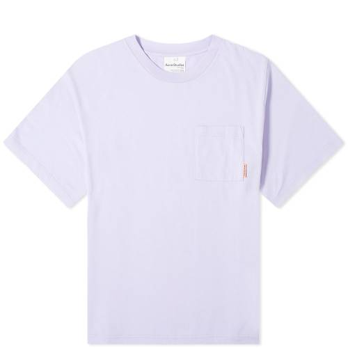 ACNE STUDIOS ピンク Tシャツ 紫 パープル 【 PINK PURPLE ACNE STUDIOS EXTORR POCKET LABEL TEE LIGHT 】 メンズファッション トップス Tシャツ カットソー