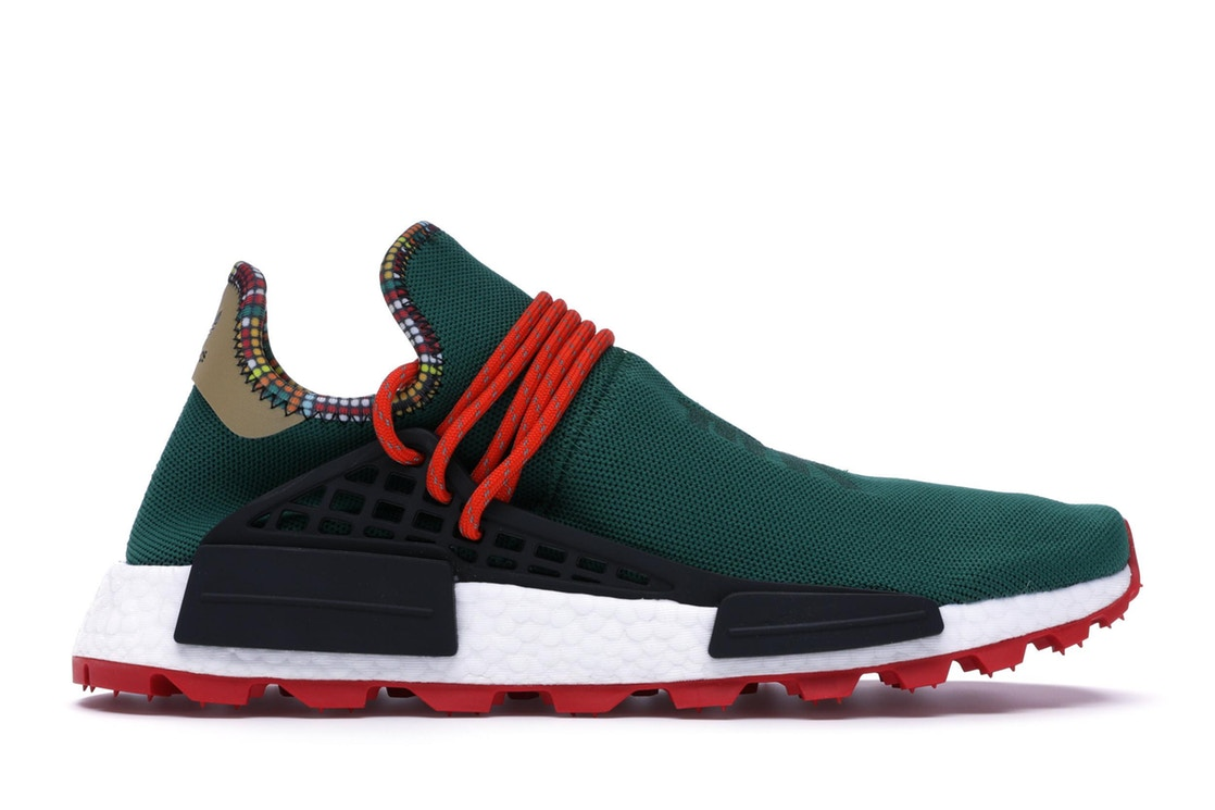アディダス ADIDAS スニーカー 【 NMD HU PHARRELL INSPIRATION PACK GREEN CORE BLACK BOLD ORANGE 】 メンズ 送料無料