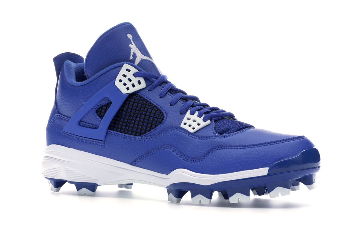 ナイキ ジョーダン JORDAN スニーカー4 RETRO CLEAT ROYAL VARSITY WHITEメンズAL35jcR4q