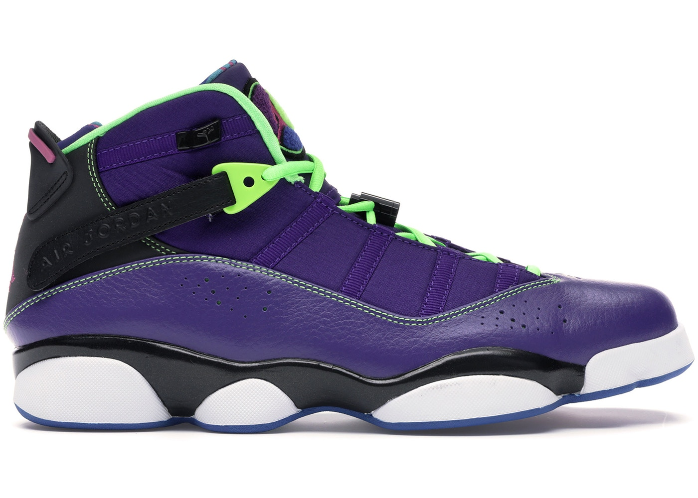 ナイキ ジョーダン JORDAN スニーカー 【 6 RINGS BEL AIR COURT PURPLE CLUB PINKBLACKFLASH LIME 】 メンズ