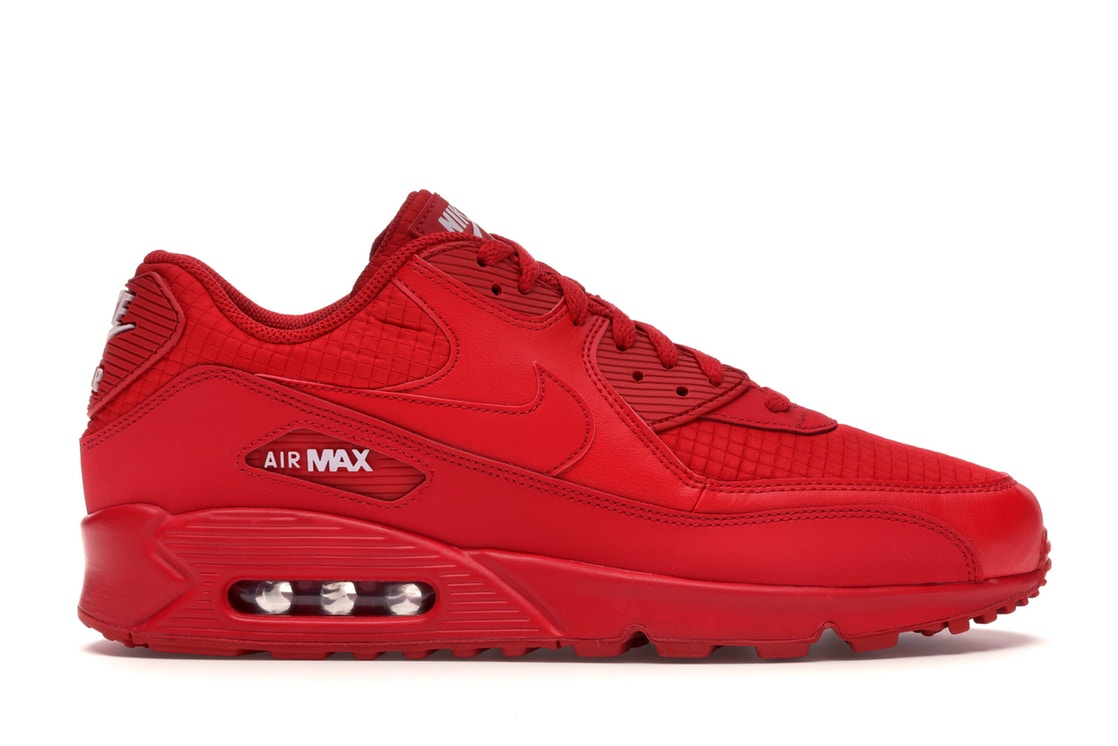 ナイキ NIKE エアー マックス スニーカー 【 AIR MAX 90 TRIPLE RED UNIVERSITY WHITE 】 メンズ 送料無料