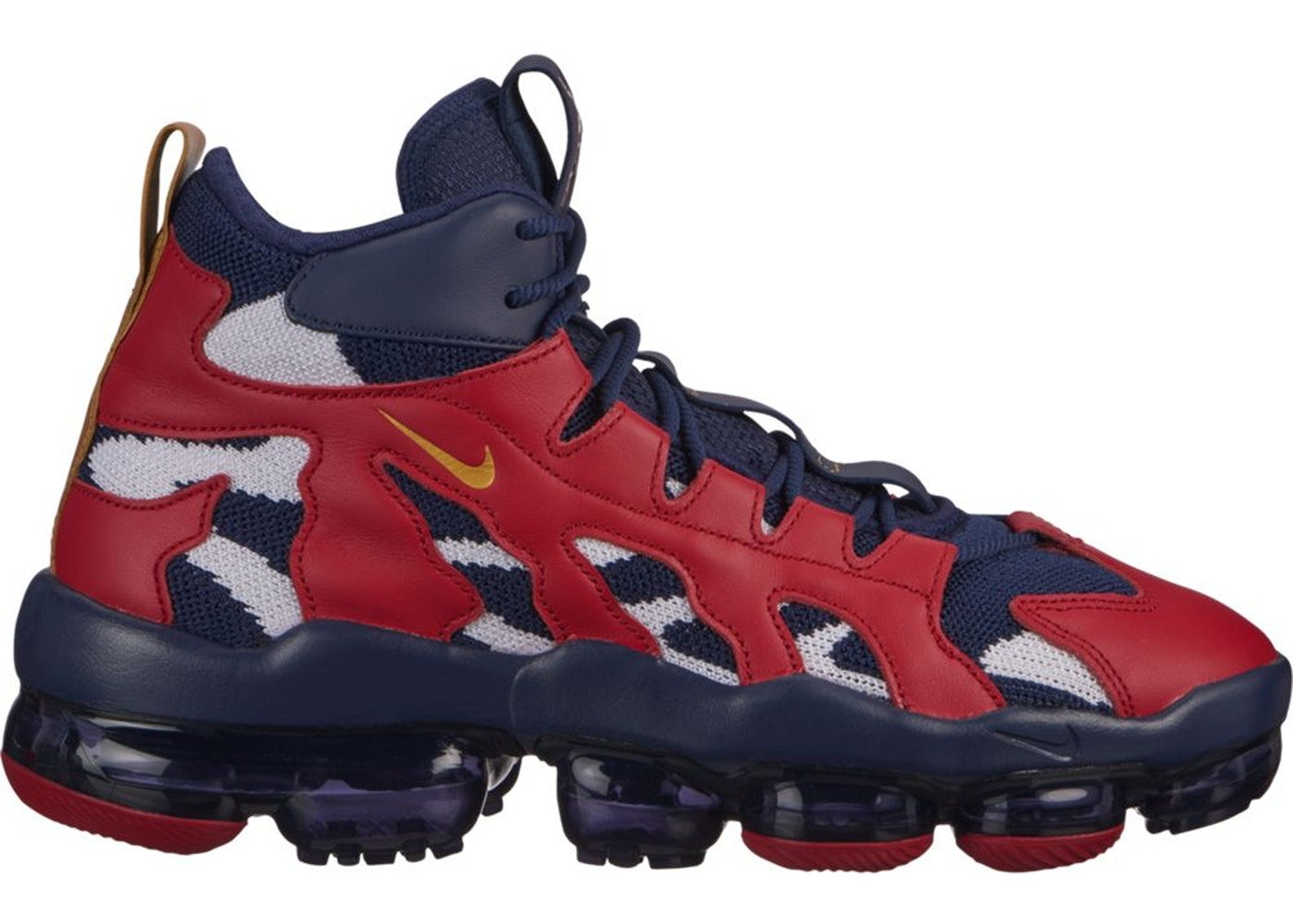 ナイキ NIKE エア スニーカー 【 AIR VAPORMAX GLIESE OLYMPIC MIDNIGHT NAVY METALLIC GOLDGYM RED 】 メンズ