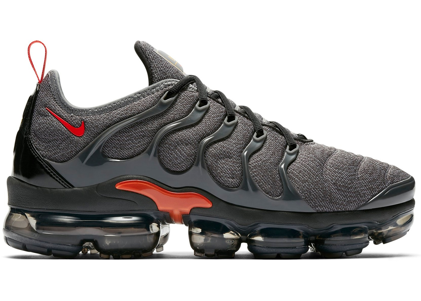 ナイキ NIKE エア クール 灰色 グレ チーム スニーカー 【 AIR TEAM VAPORMAX PLUS COOL GREY ORANGE UNIVERSITY GOLDANTHRACITETEAM 】 メンズ