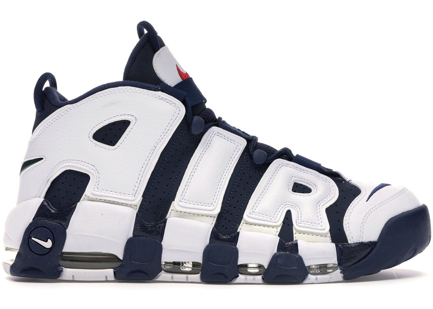 ナイキ NIKE エア アップテンポ スニーカー 【 AIR UPTEMPO MORE OLYMPICS 2012 MIDNIGHT NAVY NAVYWHITESPIRIT RED 】 メンズ
