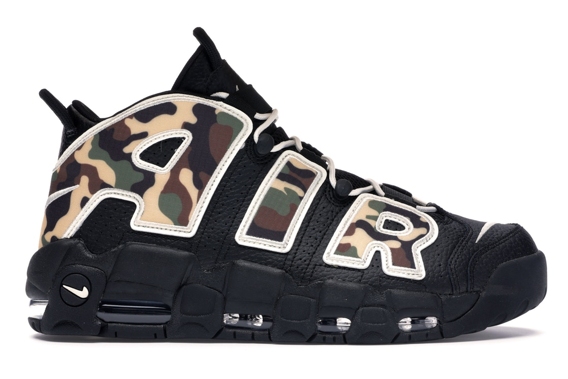 ナイキ NIKE エアー アップテンポ スニーカー 【 AIR UPTEMPO MORE 96 CAMO BLACK SAILLIGHT BRITISH TANASPARAGUSOUTDOOR GREENCELESTIAL GOLD 】 メンズ 送料無料