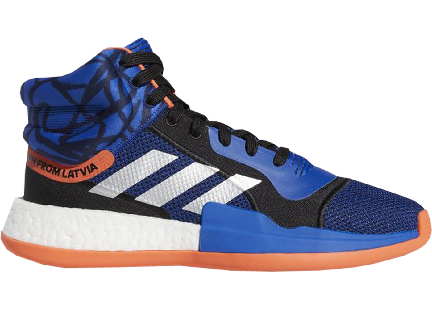 アディダス ADIDAS ブースト スニーカー 【 MARQUEE BOOST KRISTAPS PORZINGIS CORE ROYAL BLACK TRUE ORANGE 】 メンズ