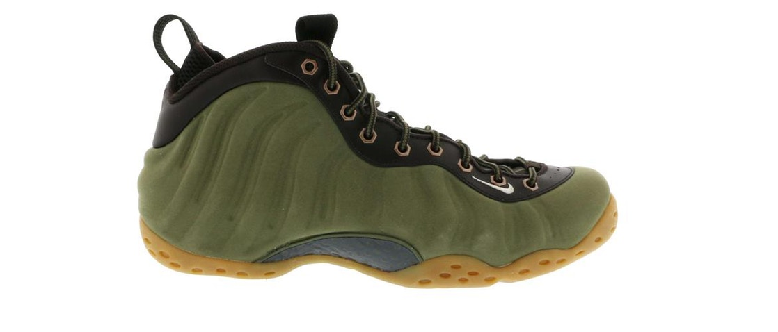 ナイキ NIKE エア フォームポジット スニーカー 【 AIR FOAMPOSITE ONE OLIVE MEDIUM VELVET BROWNBLACKLIGHT BONE 】 メンズ