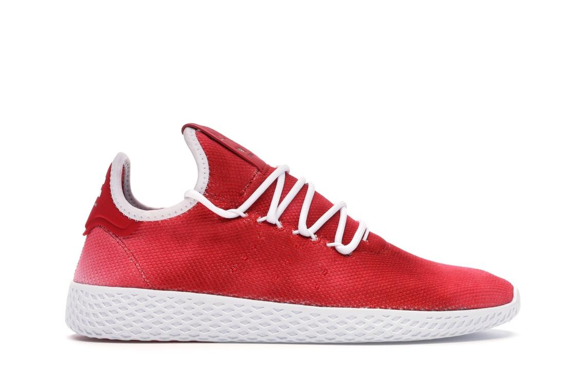 アディダス ADIDAS テニス スニーカー 【 TENNIS HU PHARRELL HOLI RED SCARLET FOOTWEAR WHITE 】 メンズ 送料無料
