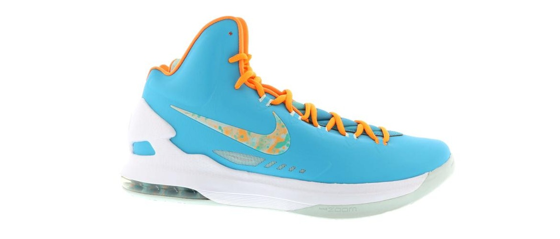 ナイキ NIKE スニーカー 【 KD 5 EASTER TURQUOISE BLUE BRIGHT CITRUSFIBERGLASS 】 メンズ 送料無料