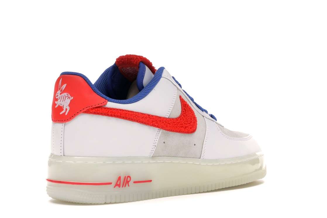 ナイキ NIKE エアー スニーカー 【 AIR FORCE 1 LOW YEAR OF THE RABBIT WHITE CRIMSONVARSITY ROYAL 】 メンズ 送料無料