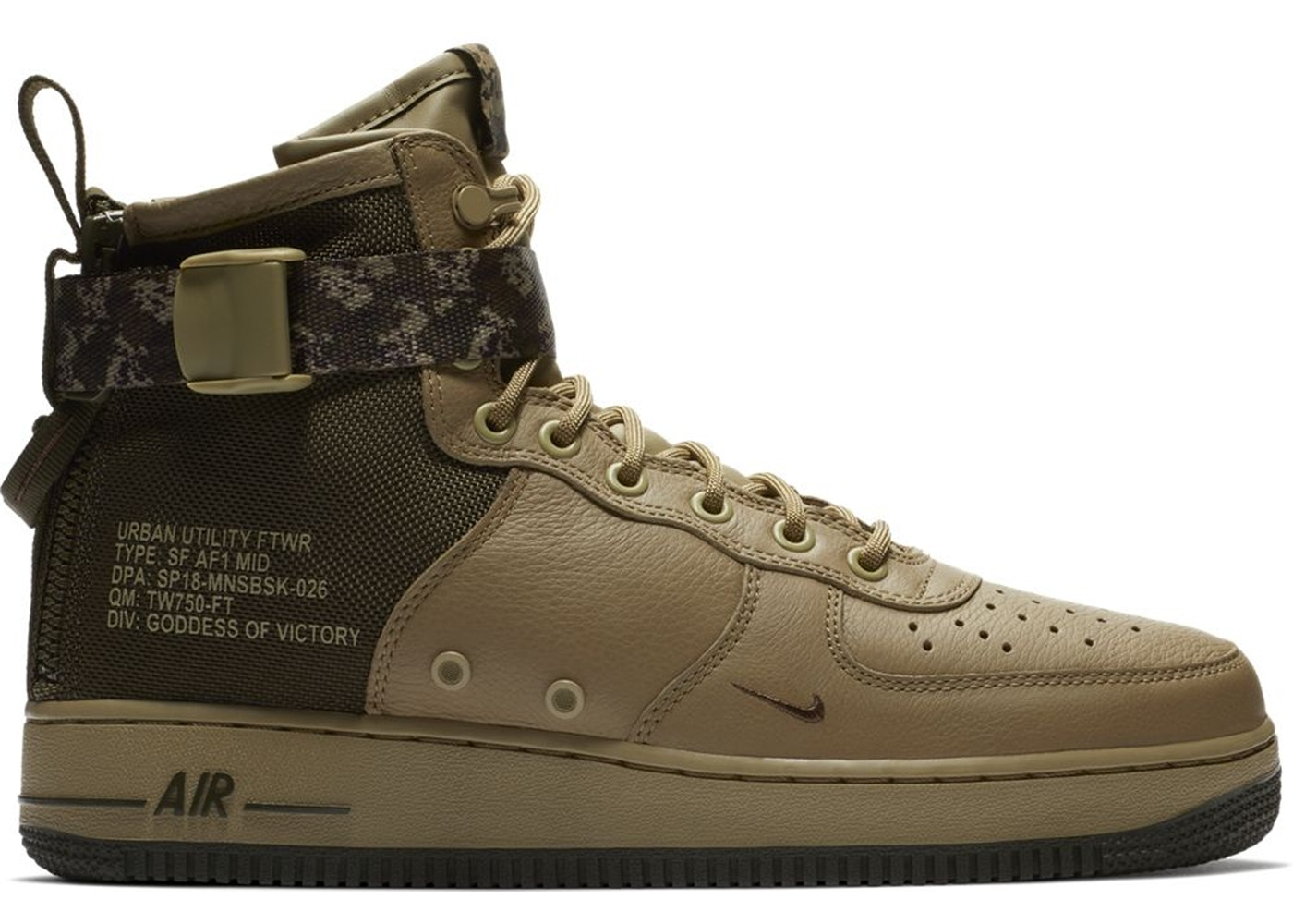 Nike WMNS SF AIR FORCE 1 MID Dark StuccoDark Stucco Gum