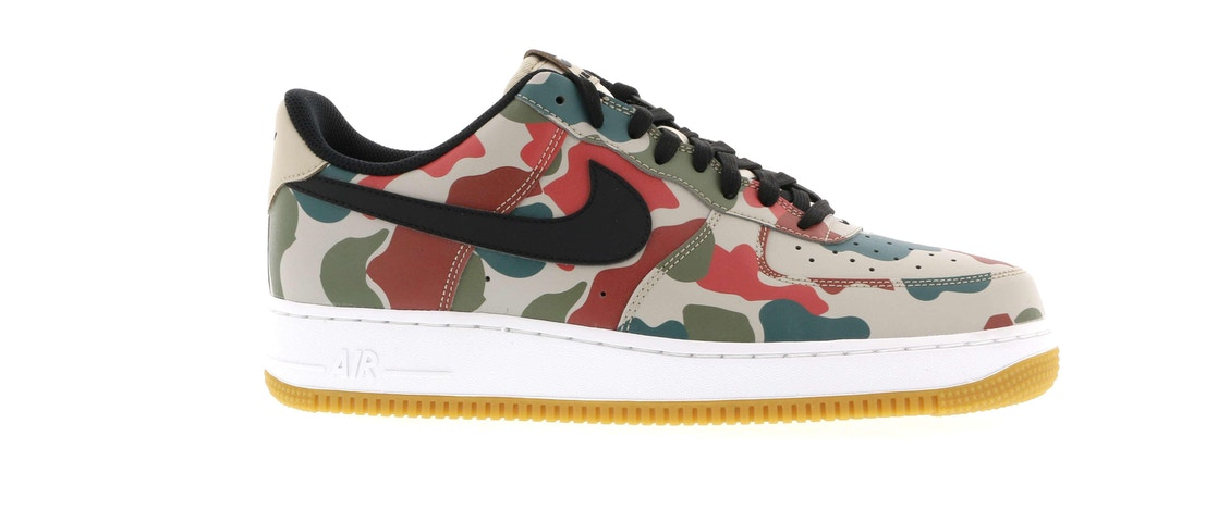 ナイキ NIKE エアー スニーカー 【 AIR FORCE 1 LOW REFLECTIVE DUCK CAMO STRING BLACKWHITEGUM LIGHT BROWN 】 メンズ 送料無料