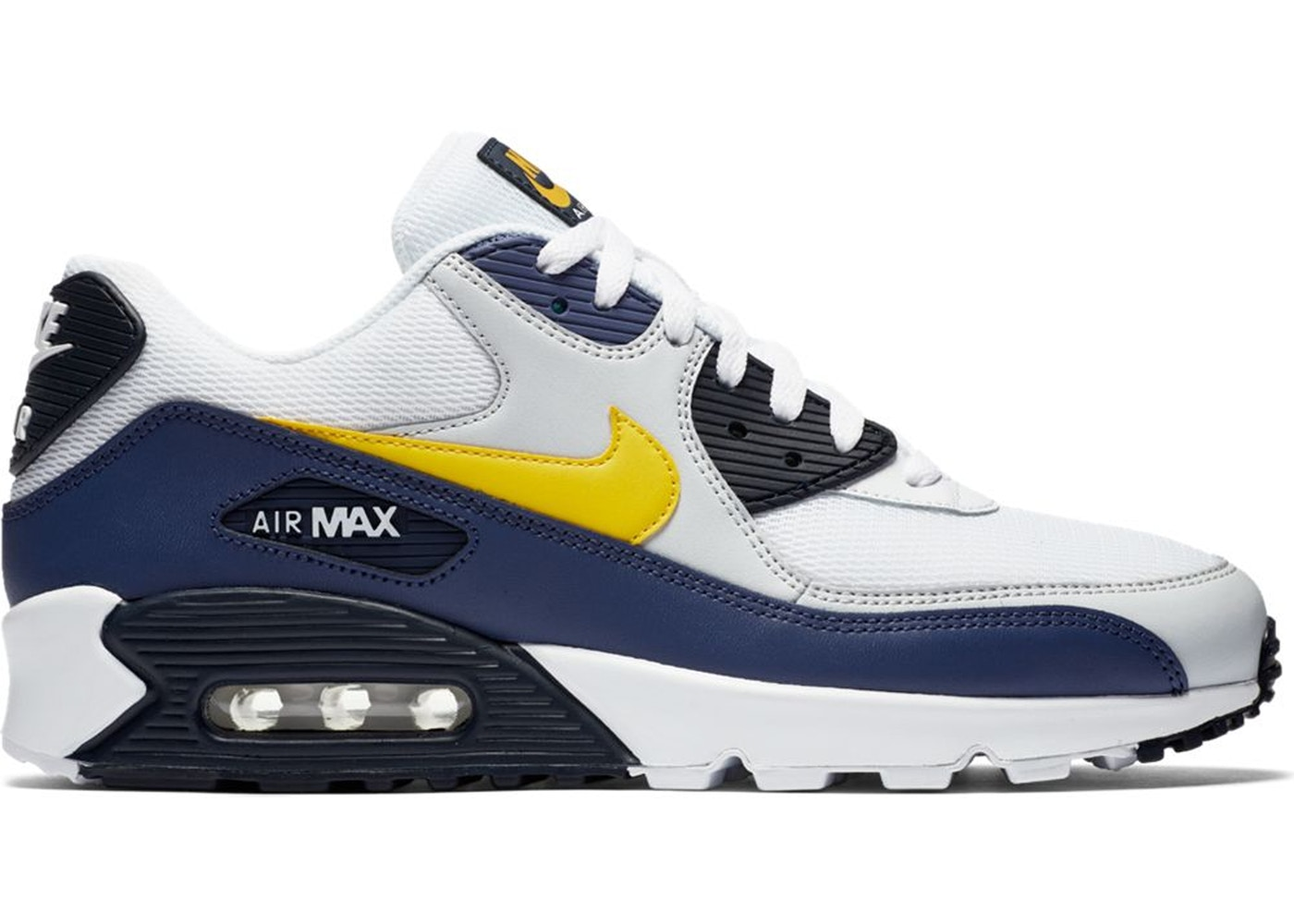 ナイキ NIKE エア マックス スニーカー 【 AIR MAX 90 MICHIGAN WHITE TOUR YELLOWBLUE RECALL 】 メンズ