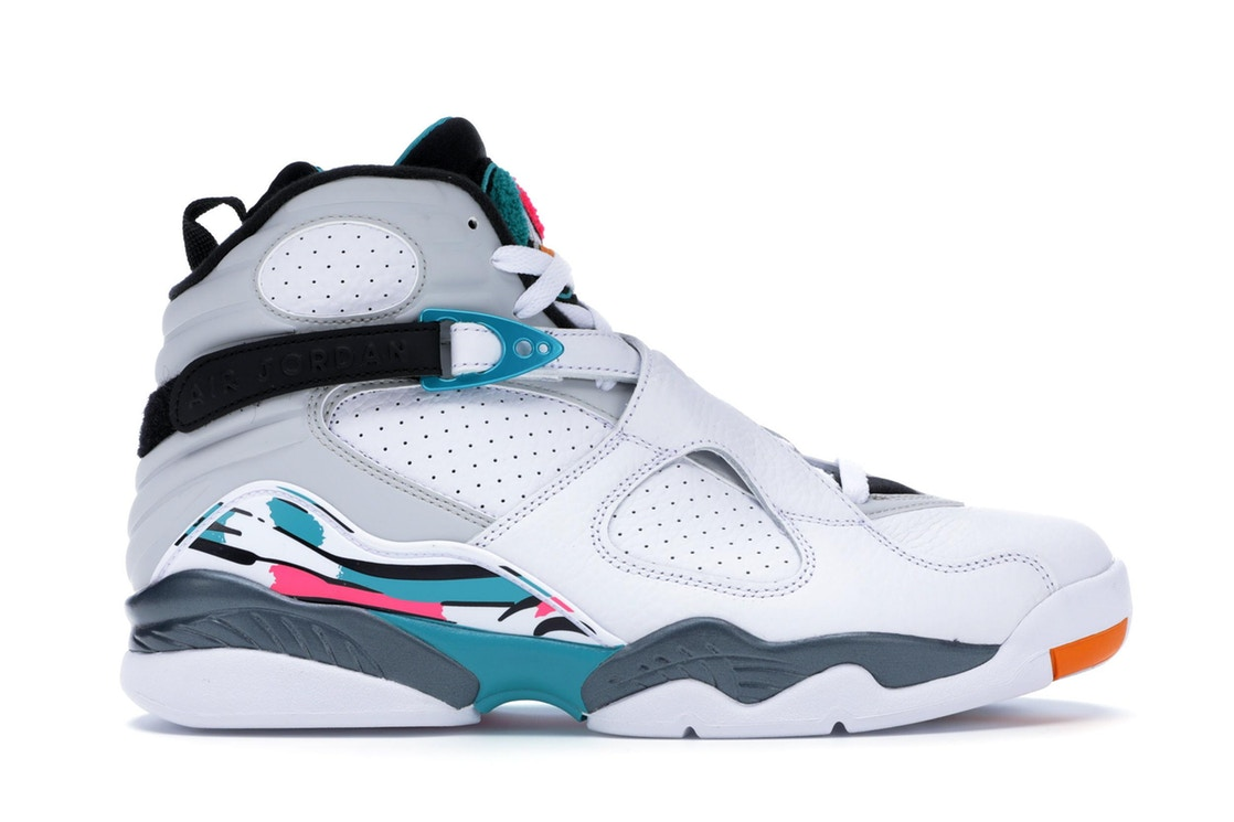 ナイキ ジョーダン JORDAN スニーカー 【 8 RETRO SOUTH BEACH WHITE WHITETURBO GREENNEUTRAL GREY 】 メンズ