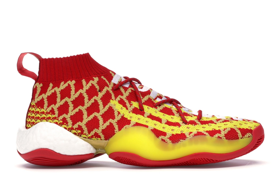 アディダス ADIDAS クレイジー スニーカー 【 CRAZY BYW PHARRELL CHINESE NEW YEAR 2019 SCARLET YELLOW WHITE 】 メンズ 送料無料