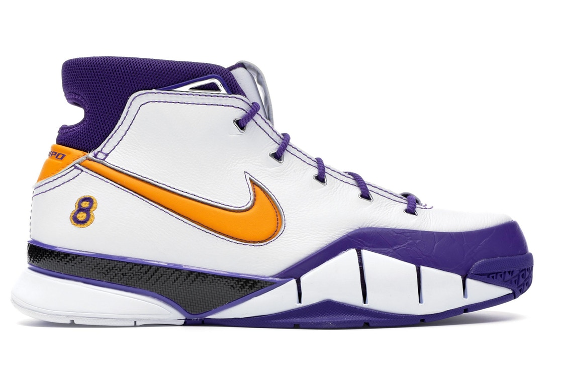 ナイキ NIKE コービー スニーカー 【 KOBE 1 PROTRO THINK 16 CLOSE OUT WHITE DEL SOLVARSITY PURPLE 】 メンズ 送料無料