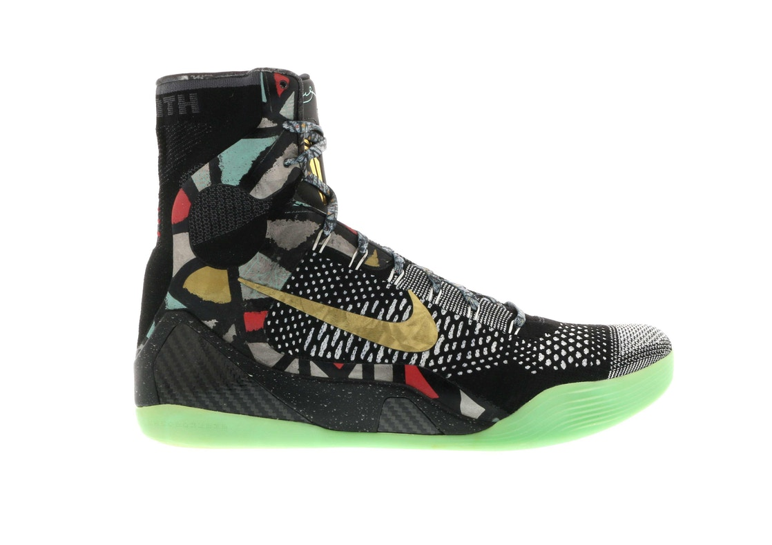 "ナイキ NIKE コービー エリート ""MAESTRO"" スニーカー 【 KOBE 9 ELITE NOLA GUMBO LEAGUE BLACK METALLIC GOLDWHITE 】 メンズ"