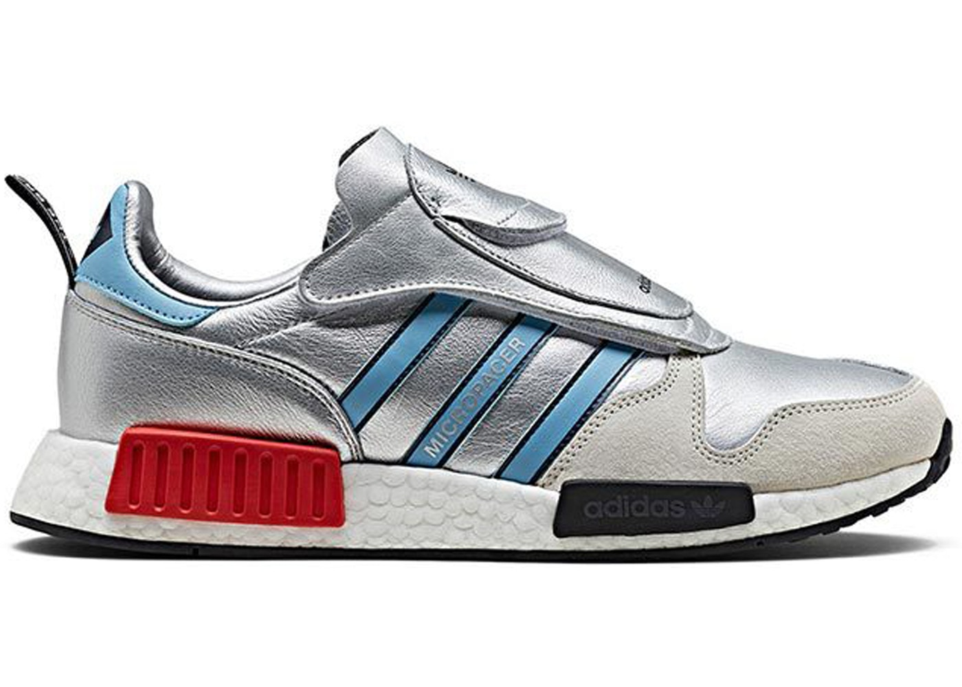 アディダス ADIDAS スニーカー 【 MICROPACER X R1 NEVER MADE PACK SILVER METALLIC LIGHT BLUE FOOTWEAR WHITE 】 メンズ