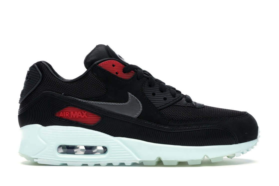 ナイキ NIKE エア マックス スニーカー 【 AIR MAX 90 VINYL BLACK COOL GREYTEAL TINTUNIVERSITY RED 】 メンズ