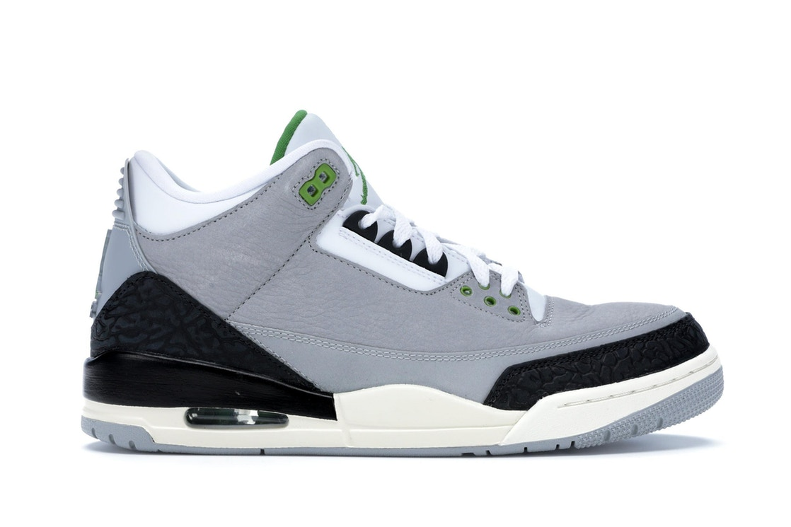 ナイキ ジョーダン JORDAN スニーカー 【 3 RETRO CHLOROPHYLL LIGHT SMOKE GREY CHLOROPHYLLBLACKWHITE 】 メンズ 送料無料
