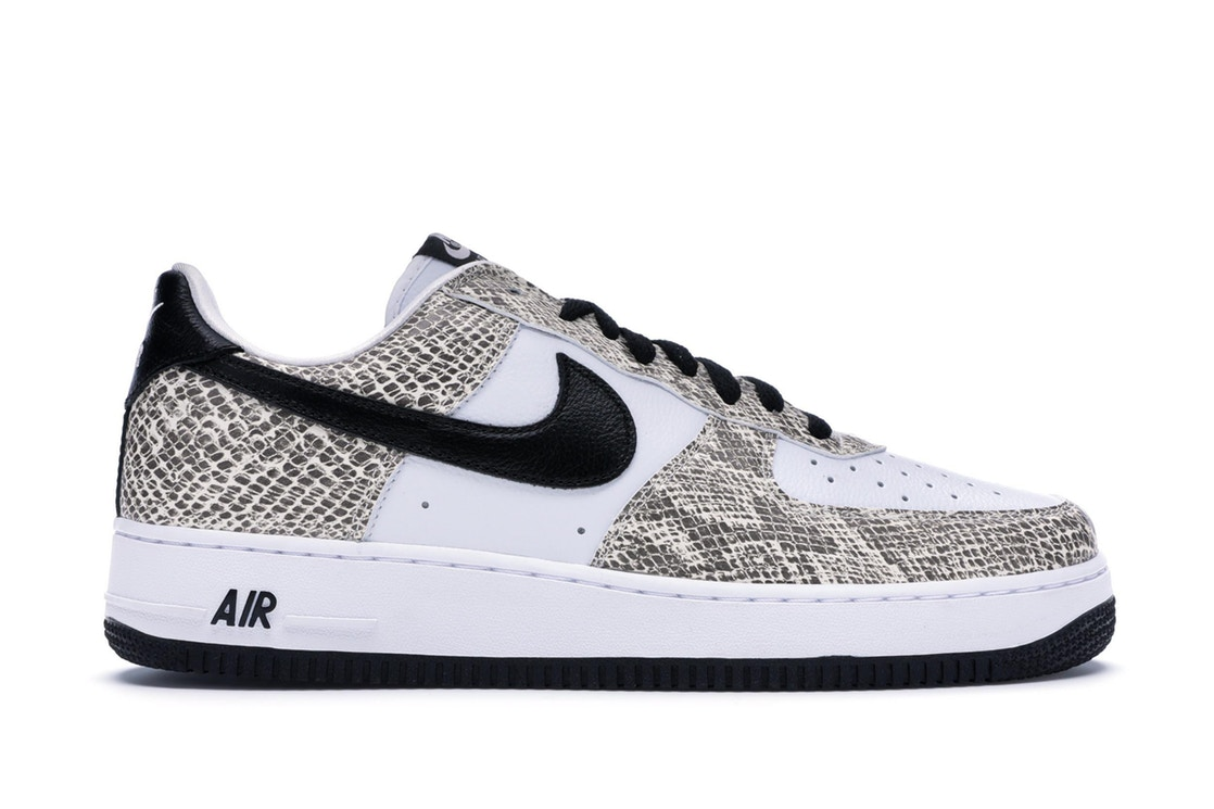ナイキ NIKE エアー スニーカー 【 AIR FORCE 1 LOW RETRO COCOA SNAKE 2018 TRUE WHITE BLACKCOCOA 】 メンズ 送料無料