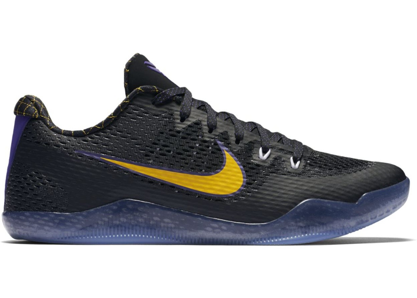 ナイキ NIKE コービー スニーカーKOBE 11 CARPE DIEM BLACK WHITECOURT PURPLEUNIVERSITY GOLDメンズ5R4AL3j