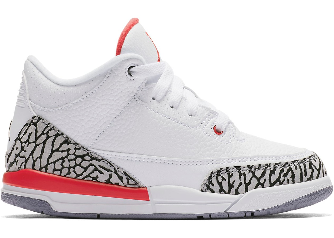 ナイキ ジョーダン JORDAN キッズ 【 3 RETRO HALL OF FAME PS WHITE FIRE REDCEMENT GREYBLACK 】 ベビー マタニティ