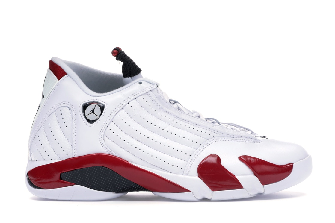 ナイキ ジョーダン JORDAN スニーカー 【 14 RETRO CANDY CANE 2012 WHITE BLACKVARSITY RED 】 メンズ