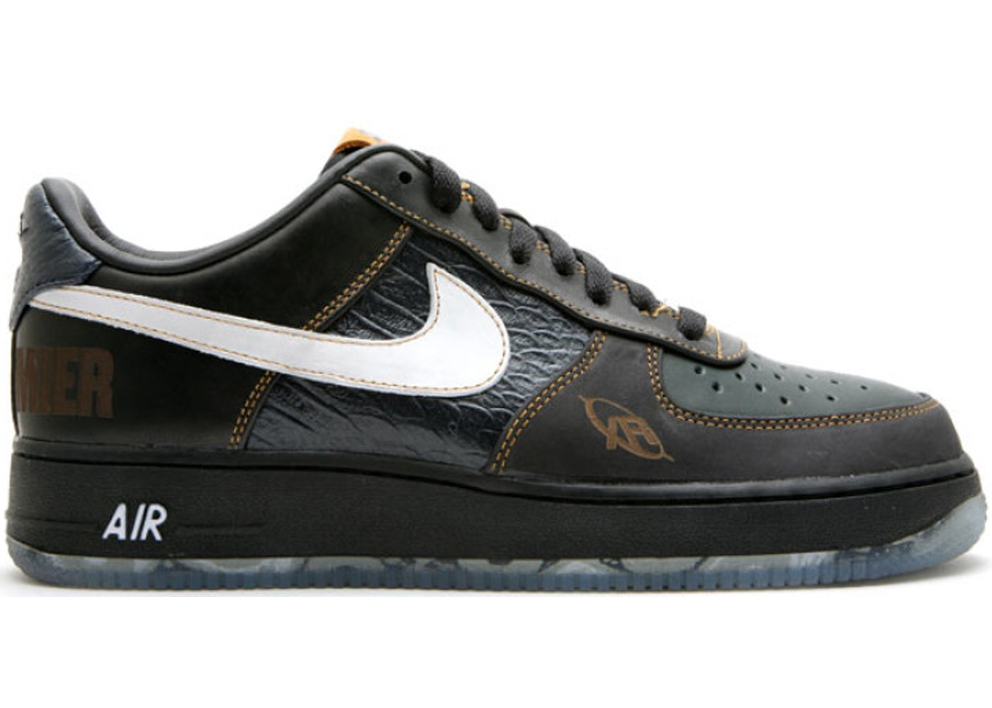ナイキ NIKE エアー スニーカー 【 AIR FORCE 1 LOW DJ PREMIER BLACK WHITEBLACK SPRUCEOBSIDIAN 】 メンズ 送料無料