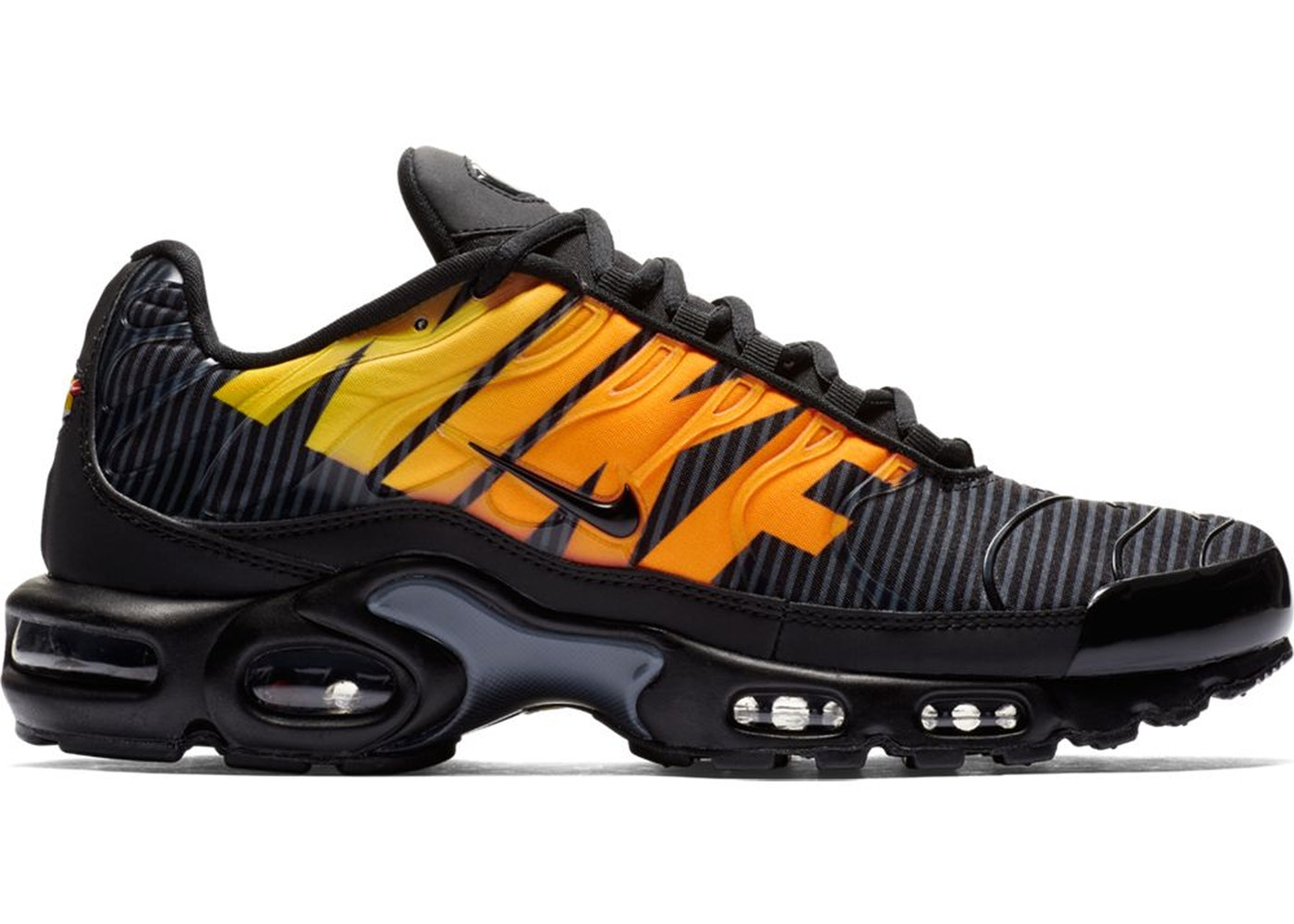 ナイキ NIKE エア マックス 黒 ブラック スニーカー 【 AIR BLACK MAX PLUS MERCURIAL ORANGE TOTAL ORANGEANTHRACITETOUR YELLOW 】 メンズ