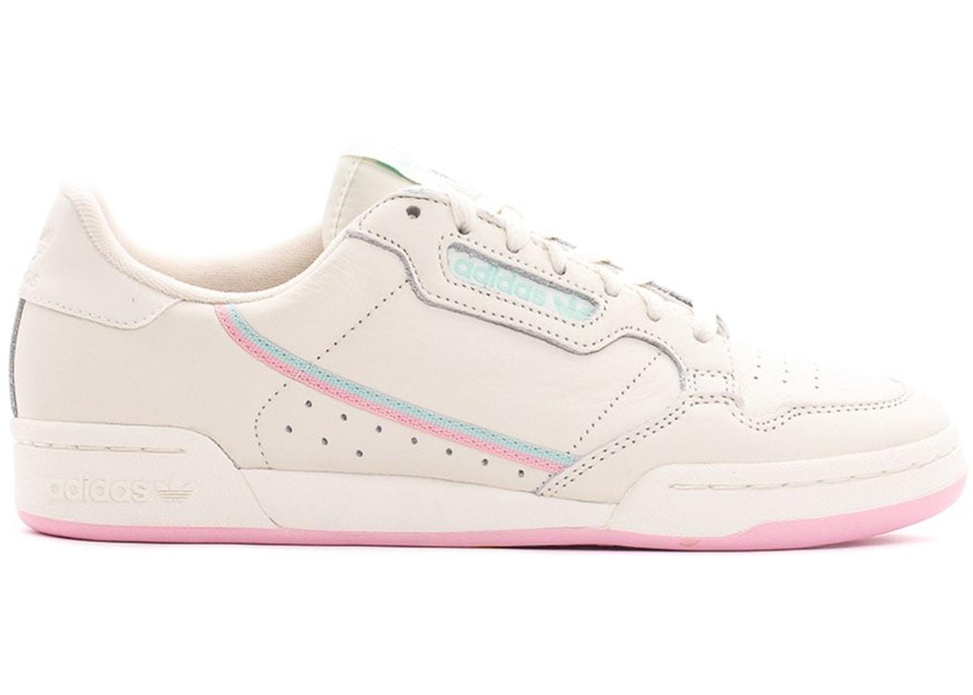 アディダス ADIDAS 白 ホワイト ピンク スニーカー 【 WHITE PINK CONTINENTAL 80 OFF TRUE CLEAR MINT 】 メンズ