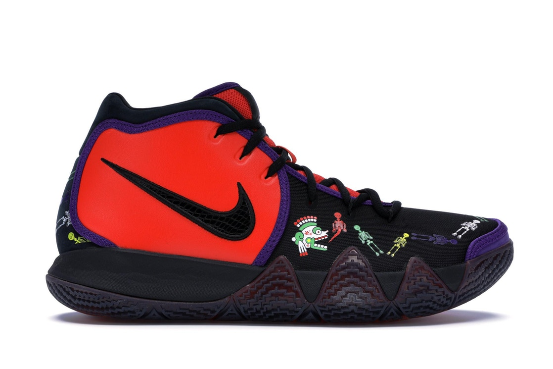 ナイキ NIKE カイリー スニーカー 【 KYRIE 4 DAY OF THE DEAD TEAM ORANGE BLACKMULTICOLOR 】 メンズ