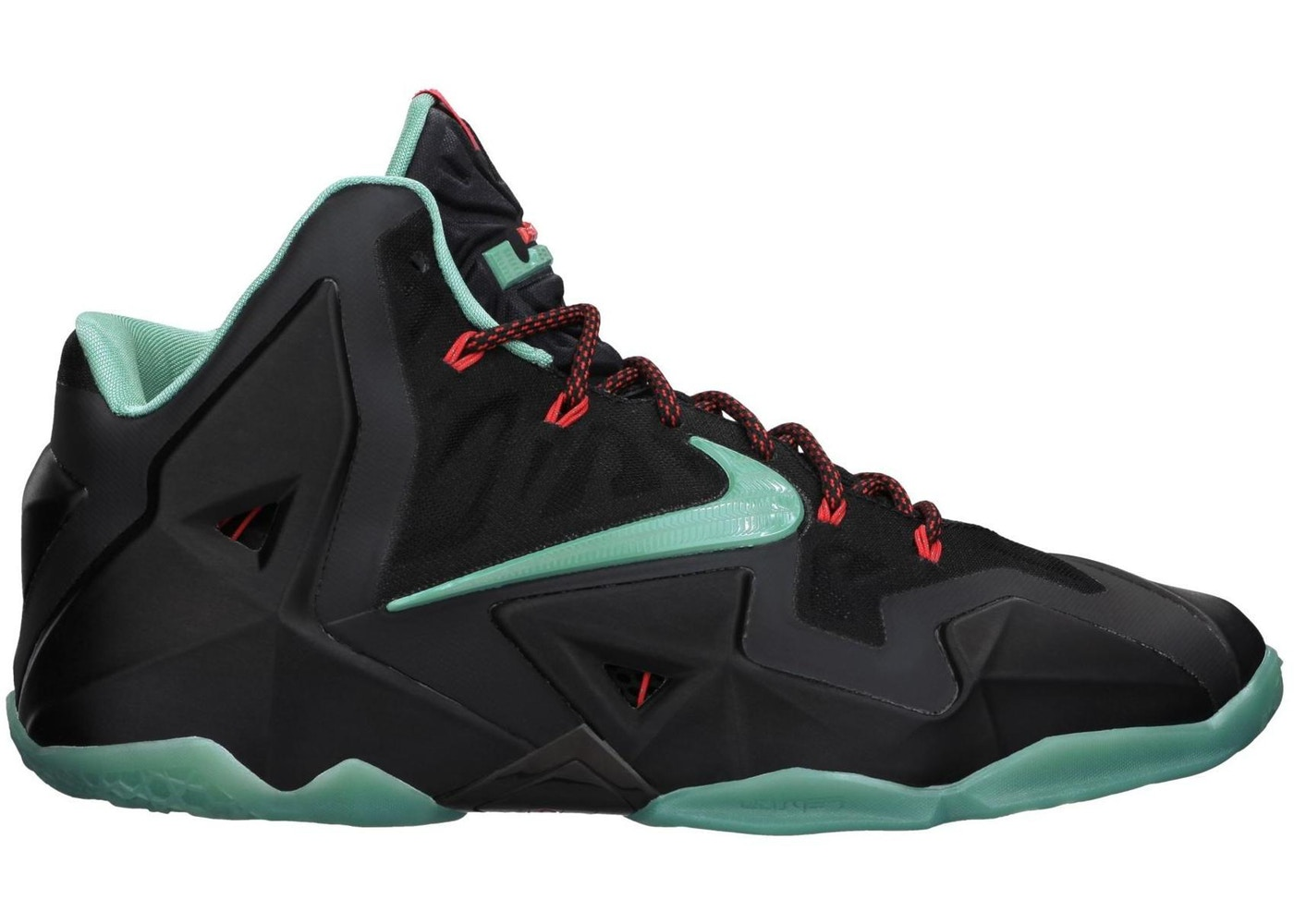 ナイキ NIKE レブロン スニーカー 【 LEBRON 11 DIFFUSED JADE BLACK JADELIGHT CRIMSON 】 メンズ