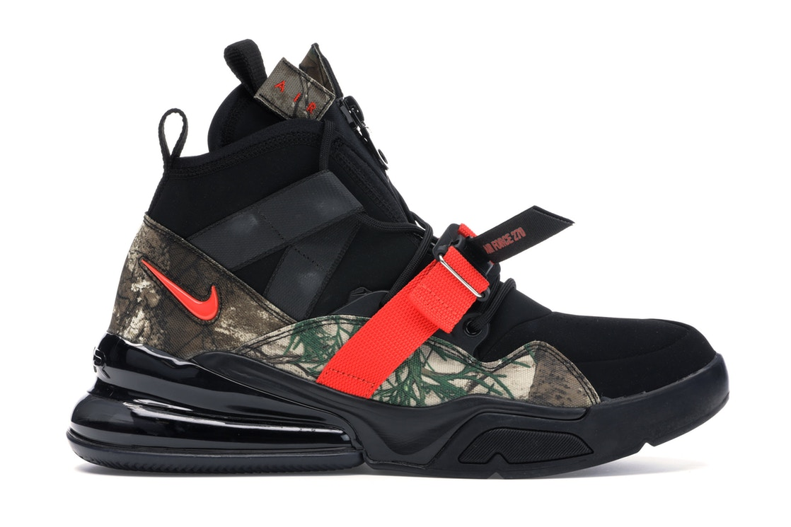 ナイキ NIKE エアー スニーカー 【 AIR FORCE 270 UTILITY REALTREE BLACK TEAM ORANGEBLACK 】 メンズ 送料無料