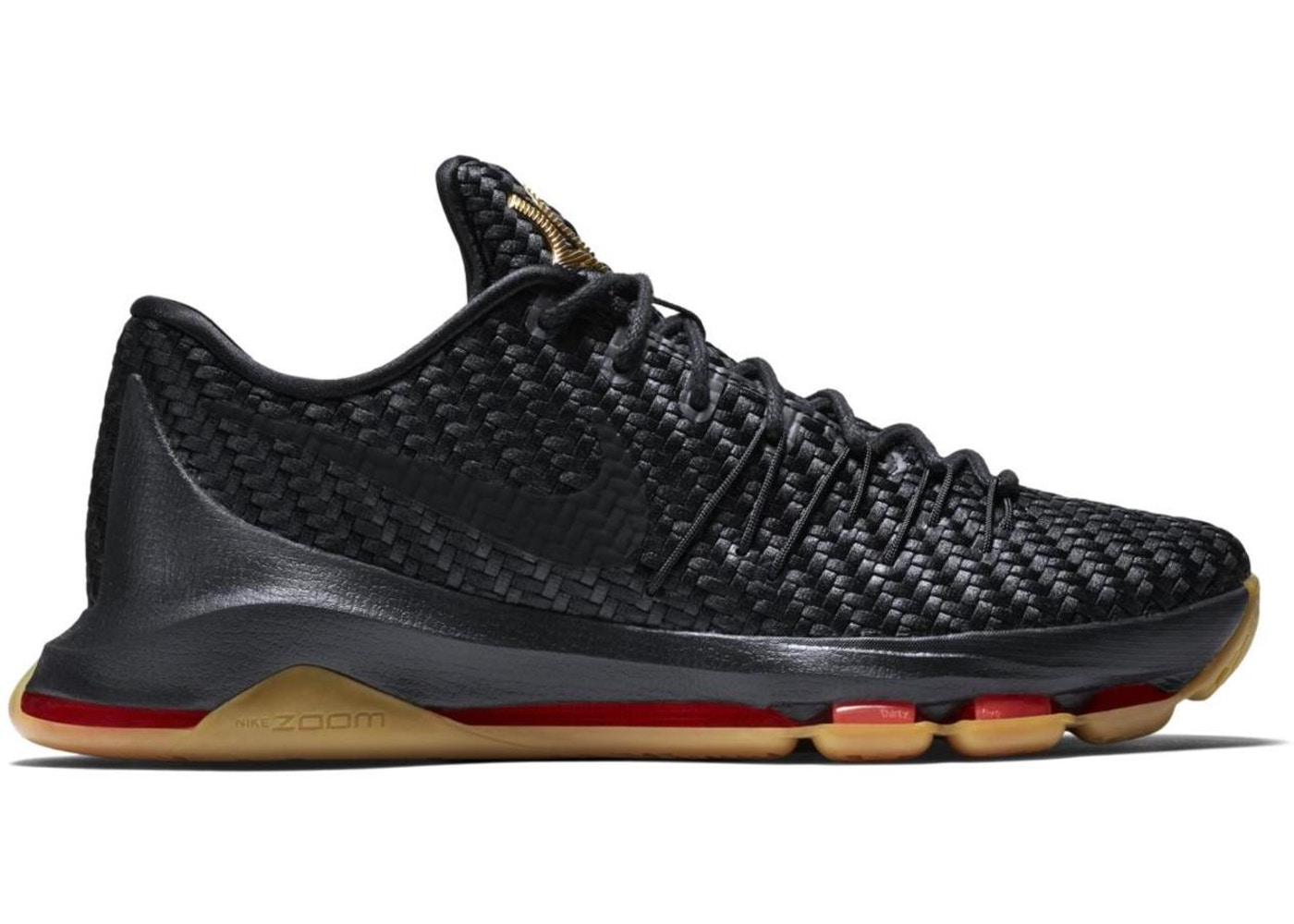 ナイキ NIKE ウーブン スニーカー 【 WOVEN KD 8 EXT WONDER BLACK BLACKMETALLIC GOLDLASER CRIMSON 】 メンズ