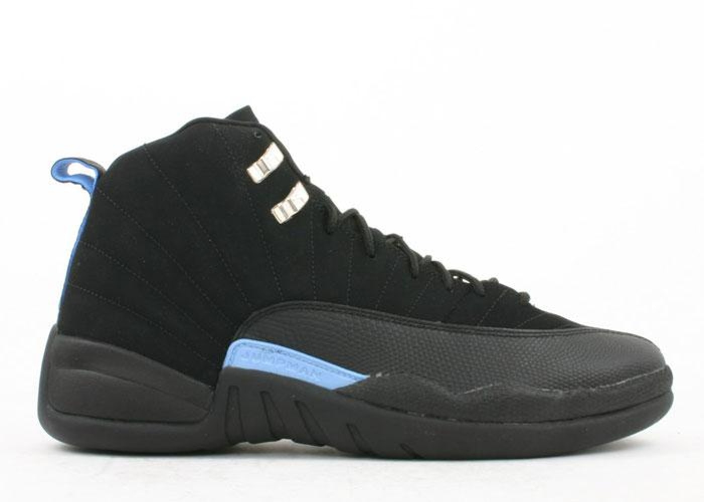 ナイキ ジョーダン JORDAN スニーカー 【 12 RETRO NUBUCK 2003 BLACK WHITEUNIVERSITY BLUE 】 メンズ