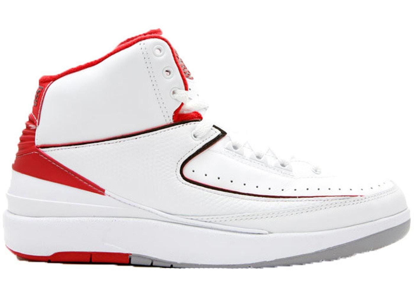 ナイキ ジョーダン JORDAN 白 ホワイト 赤 レッド スニーカー 【 WHITE RED 2 RETRO CDP 2008 VARSITY 】 メンズ