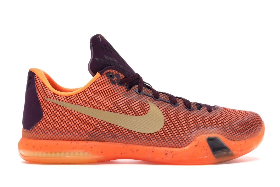 ナイキ NIKE コービー スニーカー 【 KOBE 10 SILK ROAD MERLOT METALLIC GOLDVILLAIN REDTOTAL ORANGE 】 メンズ 送料無料