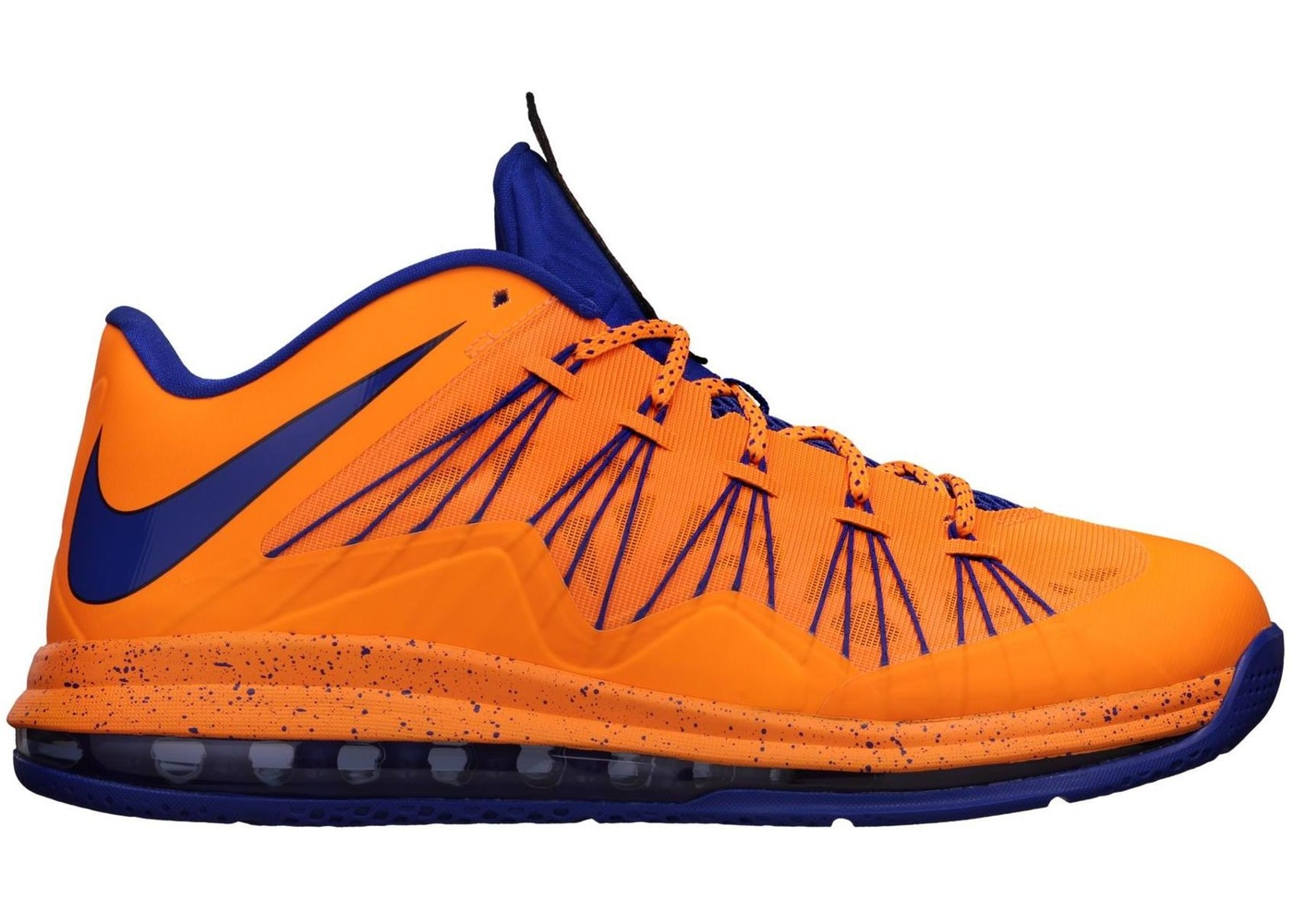 ナイキ NIKE レブロン ニックス スニーカー 【 LEBRON X LOW KNICKS HWC BRIGHT CITRUS BLACKENED BLUE WHITE HYPER 】 メンズ
