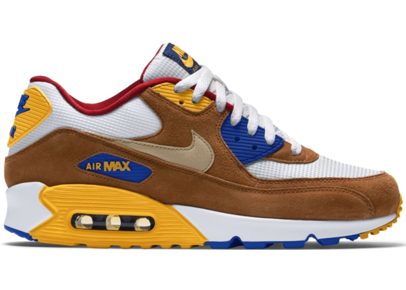 ナイキ NIKE エア マックス スニーカー 【 AIR MAX 90 CURRY WHITE METALLIC GOLDTAWNYGAME ROYAL 】 メンズ