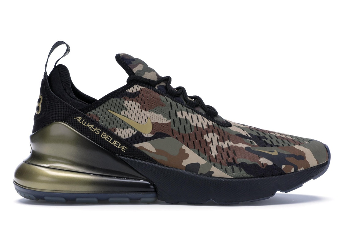 ナイキ NIKE エア マックス スニーカー 【 AIR MAX 270 DOERNBECHER 2018 BLACK METALLIC GOLDMEDIUM OLIVEFAUNA BROWNDESERT 】 メンズ