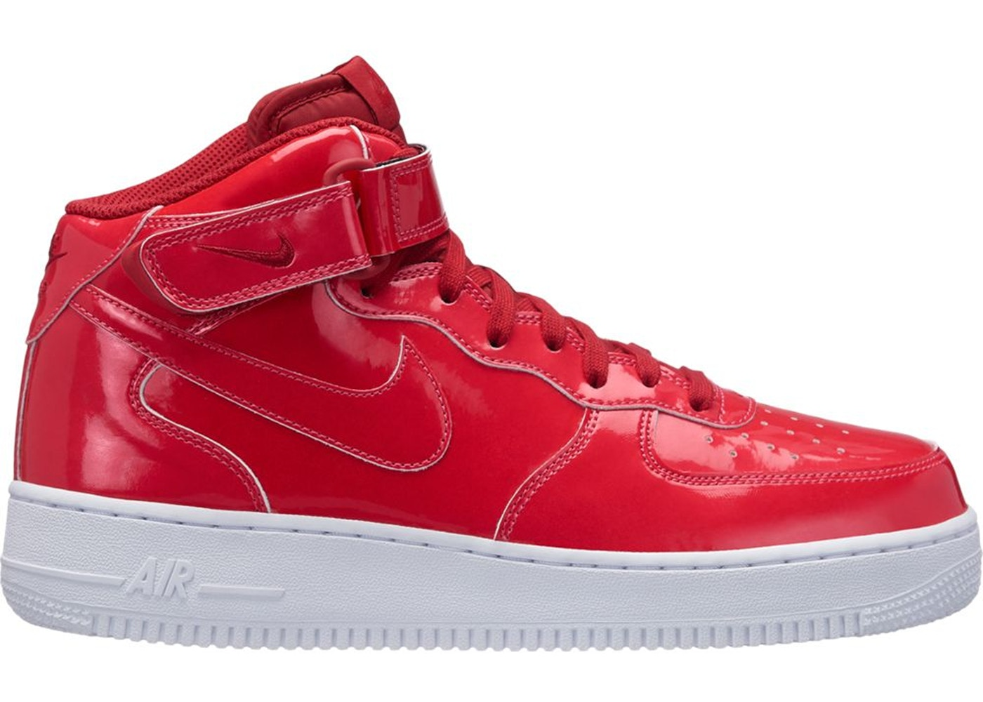 ナイキ NIKE エア ミッド スニーカー 【 AIR FORCE 1 MID ULTRAVIOLET SIREN RED REDWHITEWHITE 】 メンズ