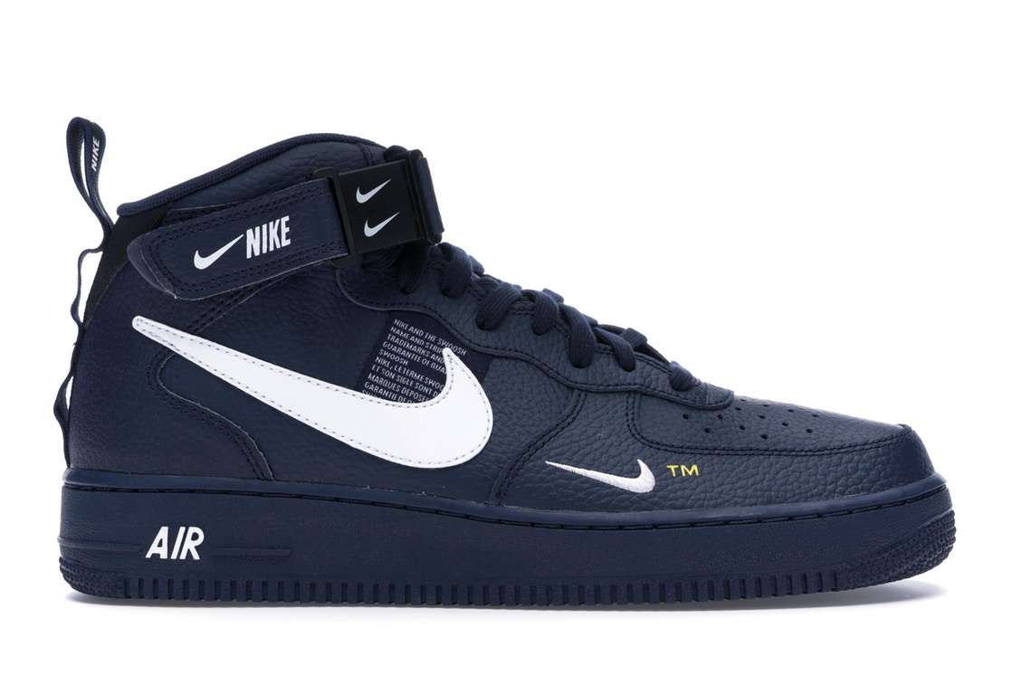 ナイキ NIKE エア ミッド スニーカー 【 AIR FORCE 1 MID UTILITY OBSIDIAN WHITEBLACKTOUR YELLOW 】 メンズ