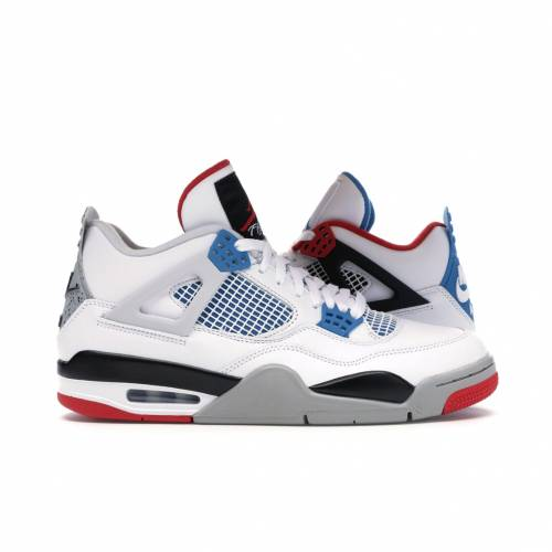 ナイキ ジョーダン JORDAN スニーカー 【 4 RETRO WHAT THE WHITE MILITARY BLUEFIRE REDBLACKCEMENT GREY 】 メンズ 送料無料