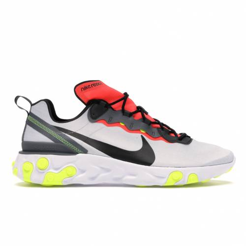 ナイキ NIKE エレメント ピュア プラチナム スニーカー 【 PLATINUM REACT ELEMENT 55 PURE BRIGHT CRIMSON VOLT BLACKDARK GREYBRIGHT CRIMSONVOLTWHITE 】 メンズ 送料無料