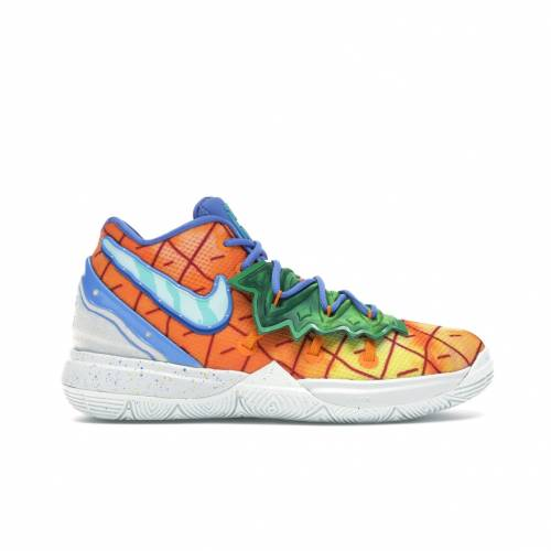 ナイキ NIKE カイリー キッズ 【 KYRIE 5 SPONGEBOB PINEAPPLE HOUSE PS ORANGE PEEL TEAL TINT 】 ベビー マタニティ